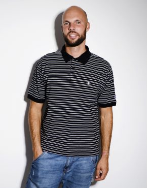 Champion vintage striped polo shirt