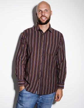Vintage velvet casual striped shirt
