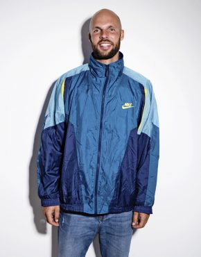 NIKE vintage blue mens jacket