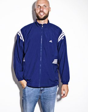 Vintage ADIDAS wind jacket blue