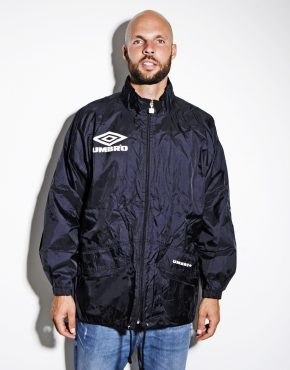 UMBRO mens vintage black windbreaker