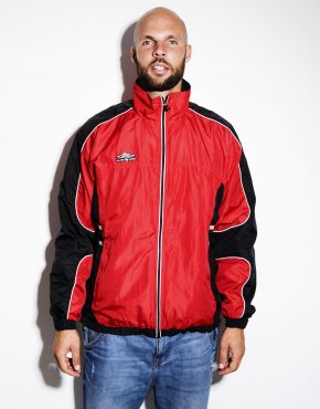UMBRO vintage red windbreaker jacket