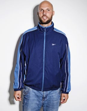 Reebok vintage track jacket blue men
