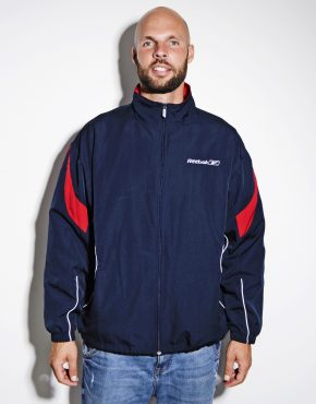 Vintage Reebok track jacket blue men