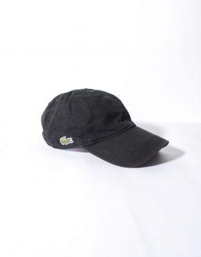 Lacoste black baseball cap