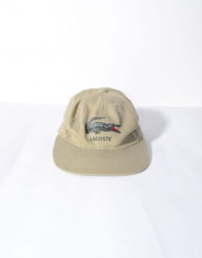 Vintage Lacoste brown cap
