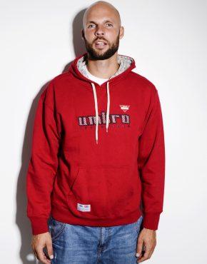 UMBRO hoodie men red