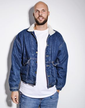 80s vintage warm denim jacket