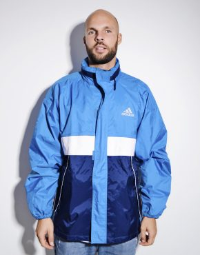 ADIDAS vintage shell jacket blue