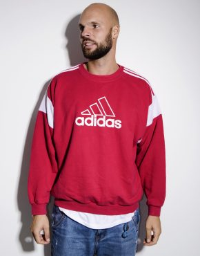 ADIDAS vintage sweatshirt red