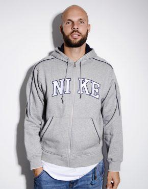 NIKE warm hooded jacket grey