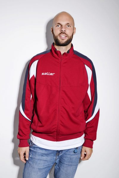 Vintage red tracksuit top jacket