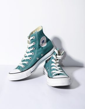 CONVERSE green shoes womens