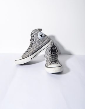 CONVERSE grey high top shoes