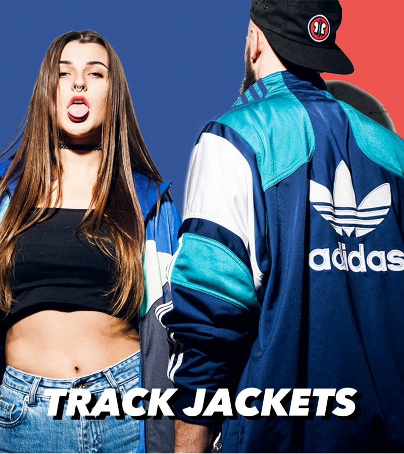 VINTAGE 90s 80s RETRO SPORT TRACK JACKETS FOR MEN AND WOMEN