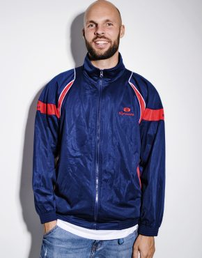 Retro vintage track jacket blue
