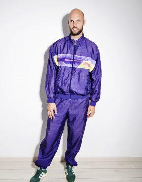 90s vintage purple shell suit
