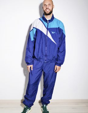 REEBOK 80s blue festival shell suit