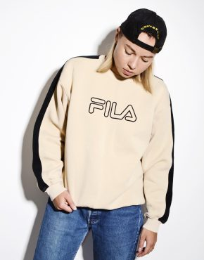 FILA cream sweatshirt for women