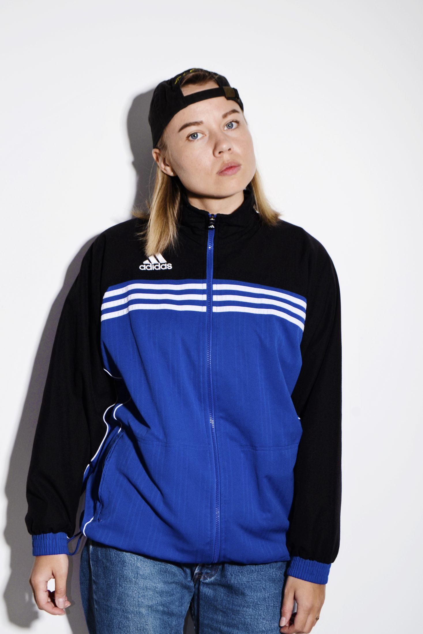 Vintage ADIDAS sport jacket | Blue black