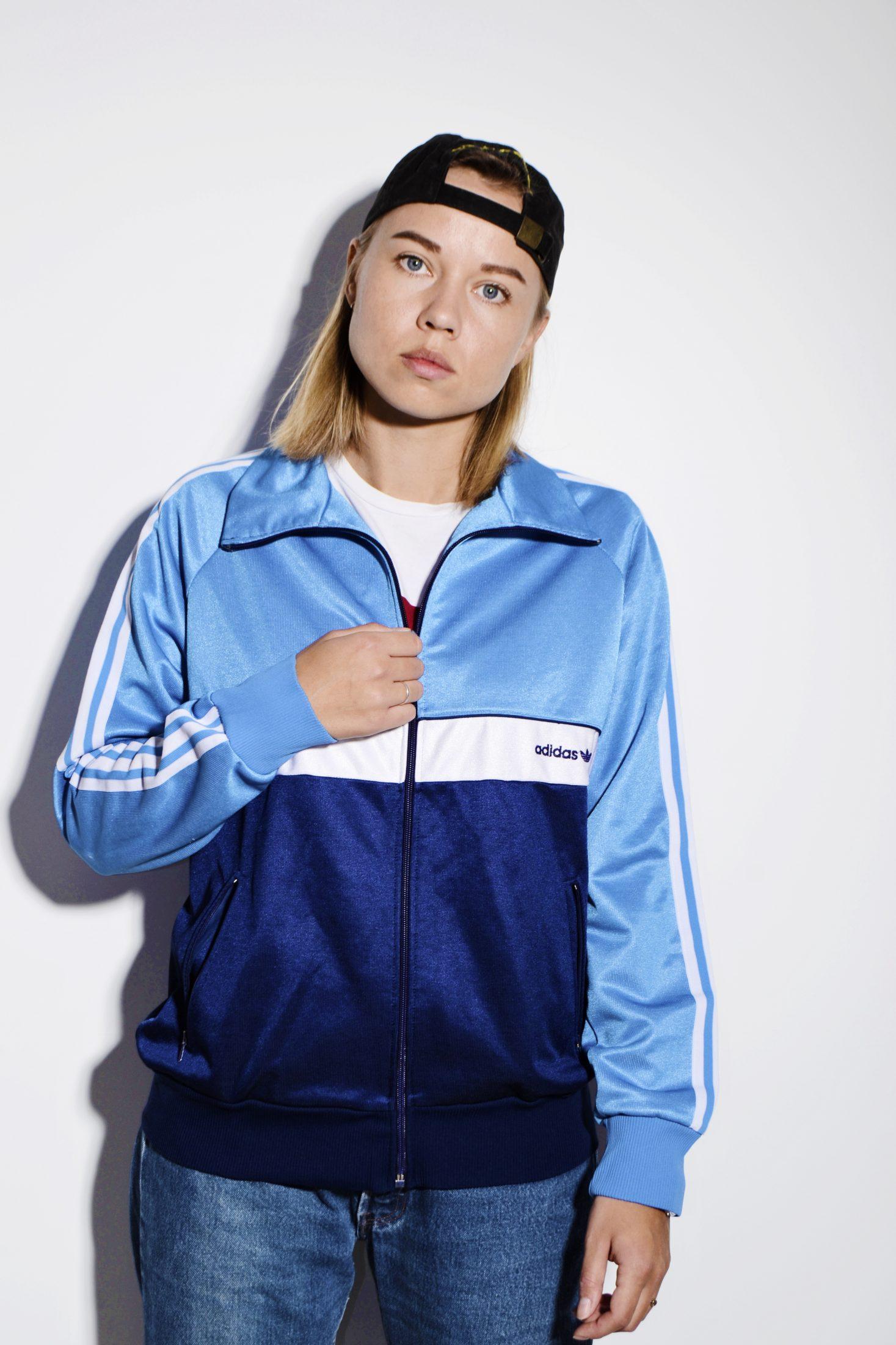 47c4c985d28f6c Adidas Originals 90s blue jacket | HOT MILK 90s clothing online store