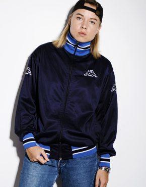 KAPPA vintage track jacket black