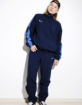 Nike vintage blue shell suit