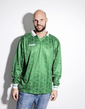 DIADORA soccer green long sleeves shirt for men