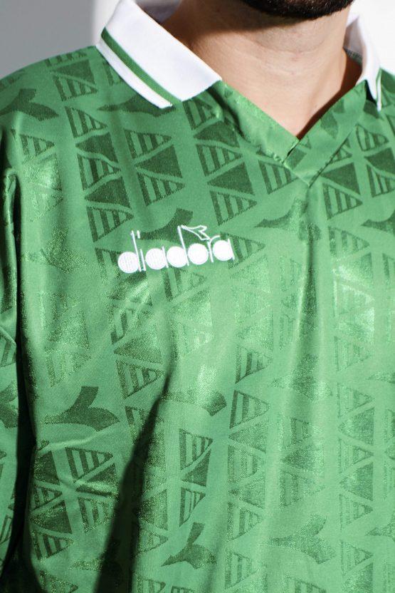 DIADORA soccer green long sleeves shirt for men