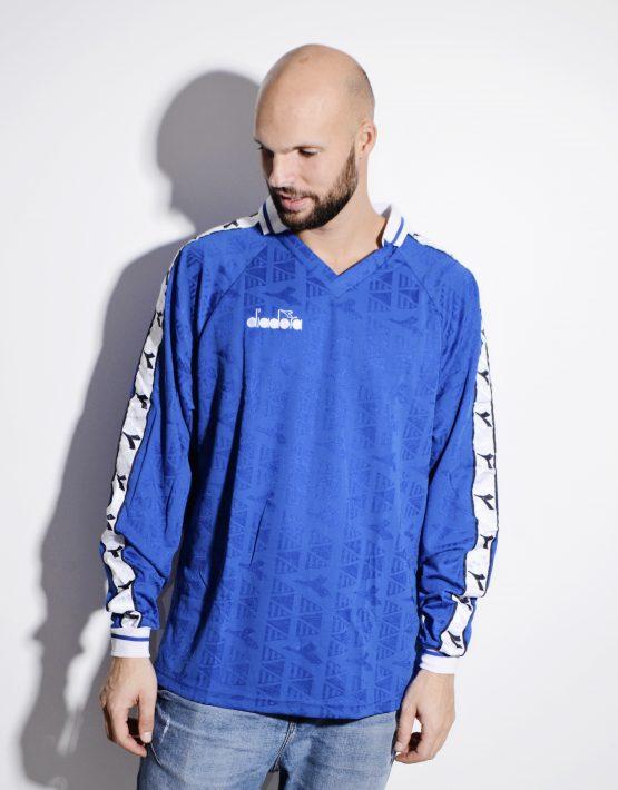 DIADORA soccer blue shirt for men