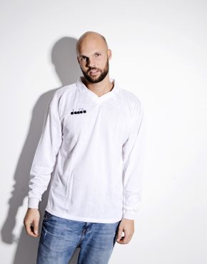DIADORA football white shirt for men
