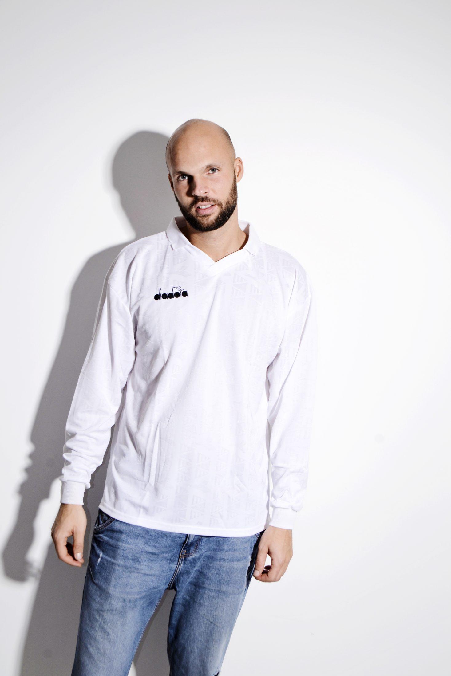 793b0649fd DIADORA football white shirt for men