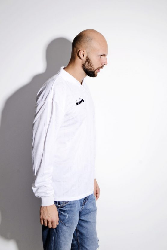 DIADORA football white shirt for men