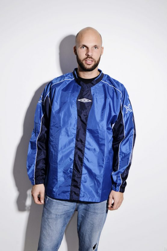 UMBRO coach blue shell shirt