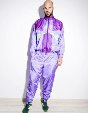 80s purple shell suit for men