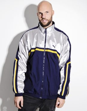 PUMA silver blue windbreaker jacket