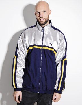 PUMA silver blue windbreaker jacket