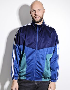 Old School blue track jacket men
