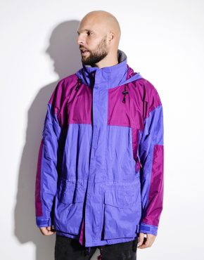 90s purple light ski jacket