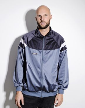 Vintage grey tracksuit top sports jacket