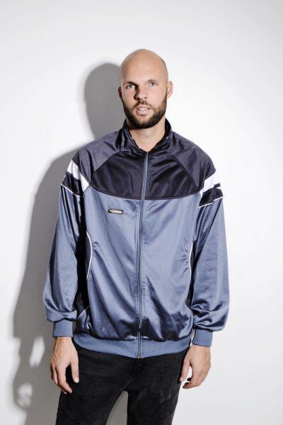 Vintage grey tracksuit top sports jacket