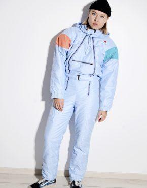 80s vintage blue ski suit