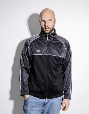 UMBRO black grey track jacket