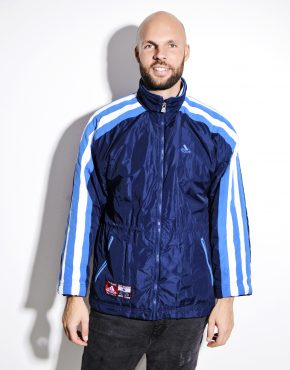 Vintage ADIDAS blue parka men