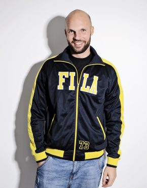 FILA blue yellow track jacket
