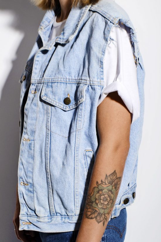 Vintage 80s denim vest jacket