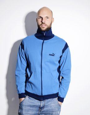 Retro PUMA 80s blue jacket