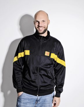 KODAK Old School black track jacket for men