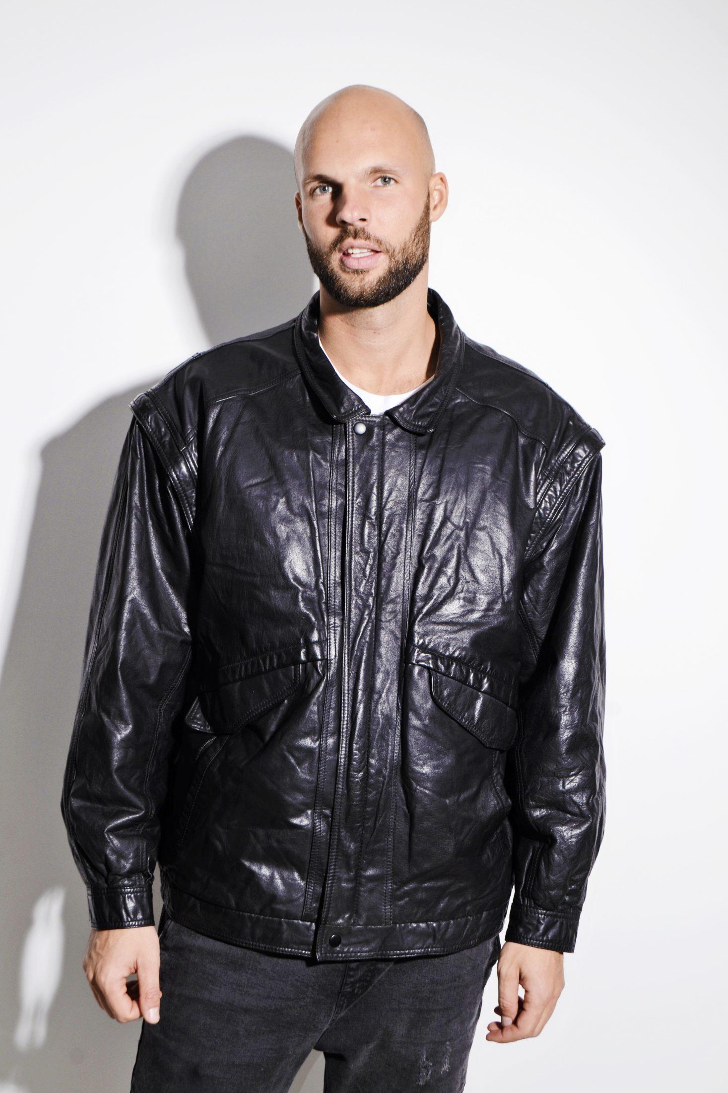 Vintage 80\u2019s Black Leather Jacket