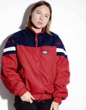 Vintage windbreaker red jacket by RUKKA